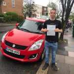 Photo of newly passed student driver in Sussex