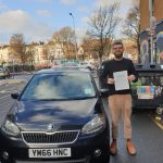 Photo of newly passed student driver in Brighton